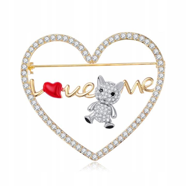 Lux Broszka Serce Mis I Love You Pozlacana Pudelko Heart Ring Jewelry Brooch