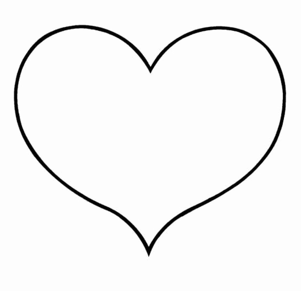 Heart Print Out Coloring Pages In