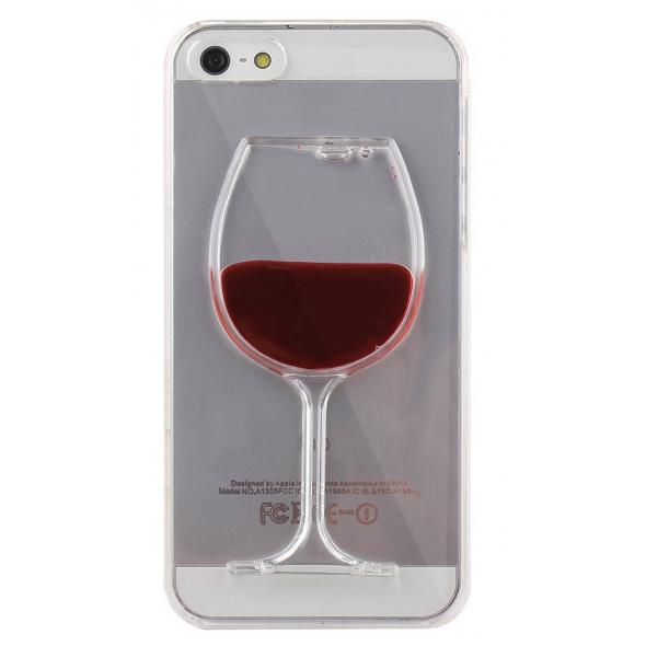 Nouvelle coque pour iPhone 5C en plastique Liquide verre de vin ...