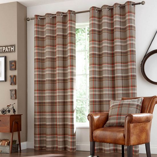 Rust Hoxton Eyelet Curtain Collection