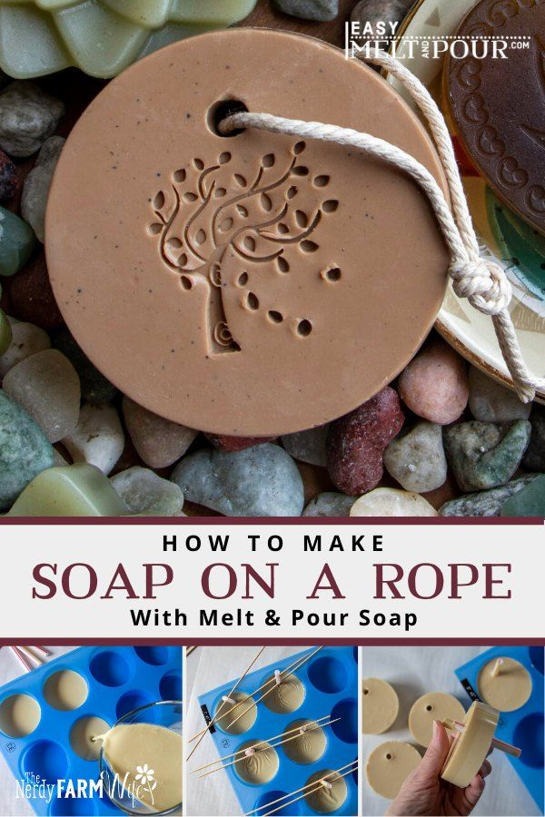 How to Make Soap on a Rope (Melt & Pour)