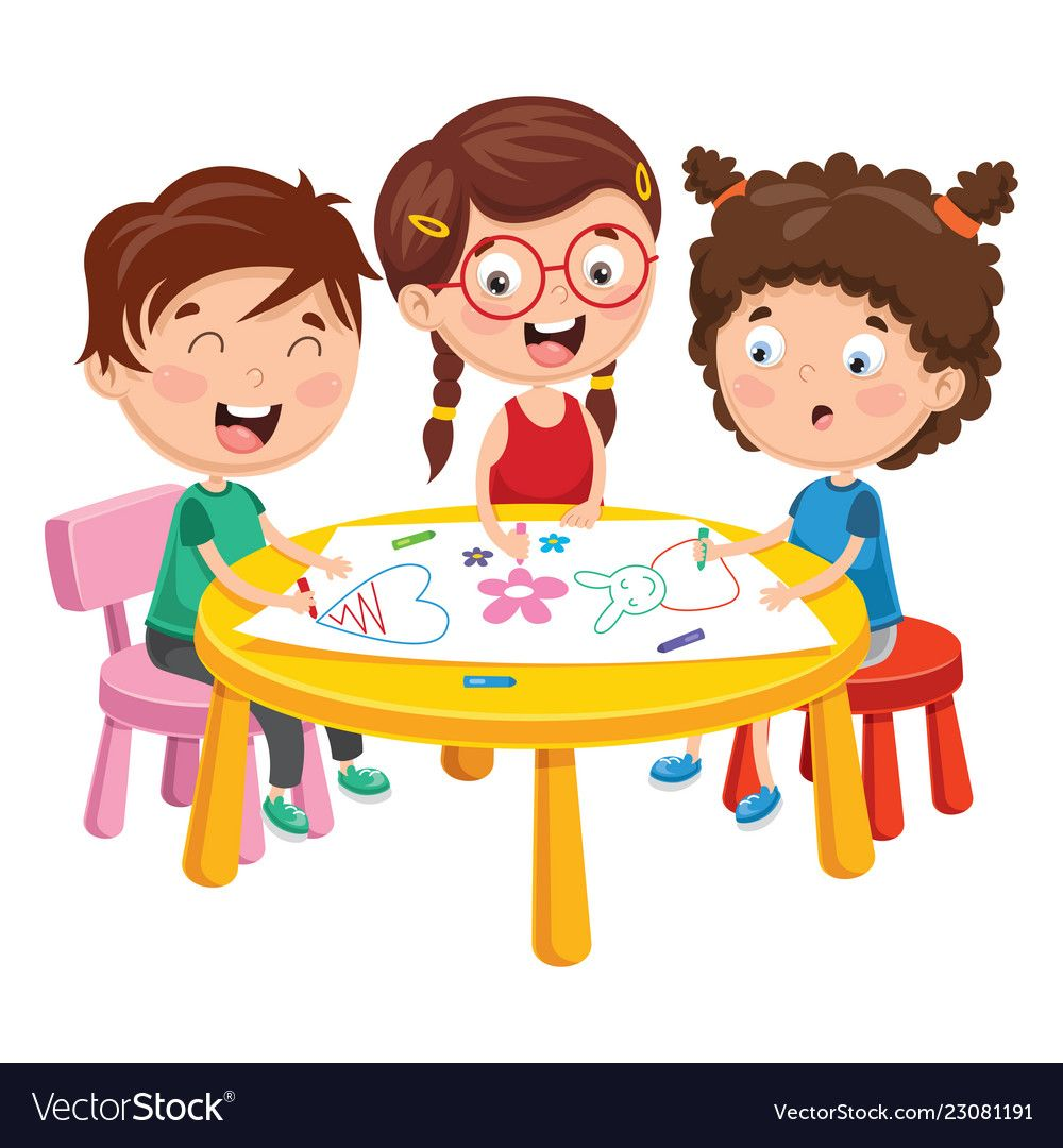 Of Kids Playing Vector Image On Vectorstock Kids Playing Children Illustration Painting For Kids