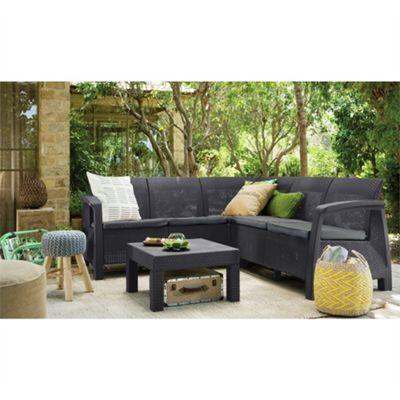 Buy Allibert Bahamas 5 Seat Corner Lounge Set - Graphite ...