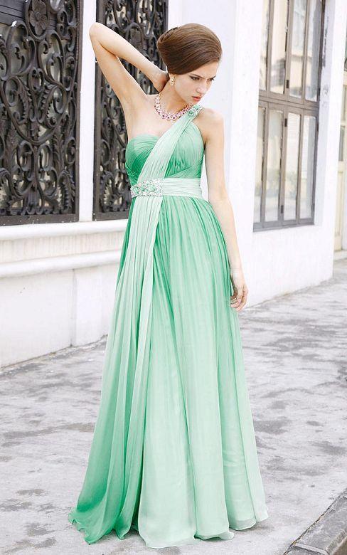 Green Wedding Dresses. Gold And Green Wedding Dress. Customized ...