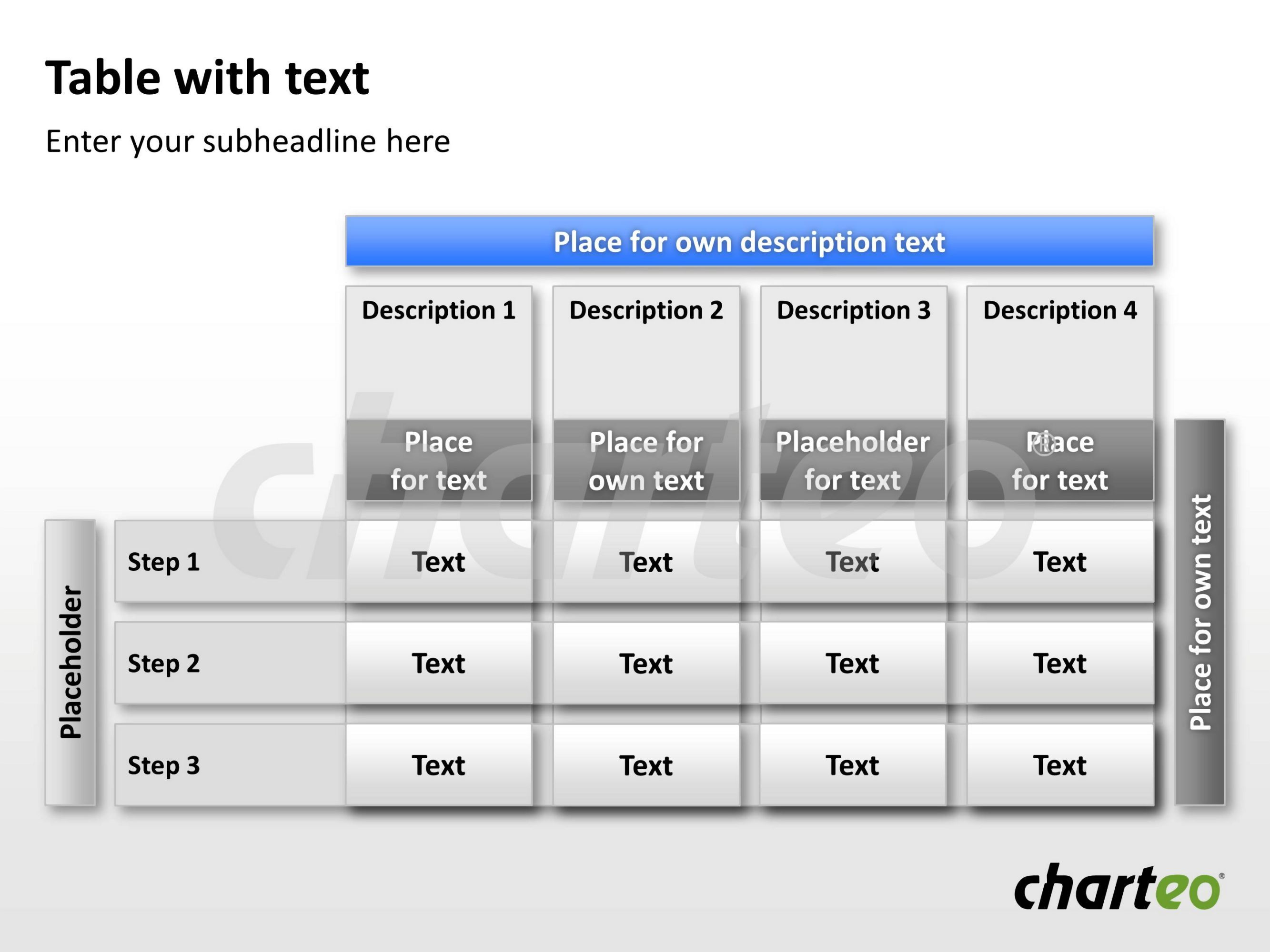 insert your own text into our user-friendly table template for, Modern powerpoint