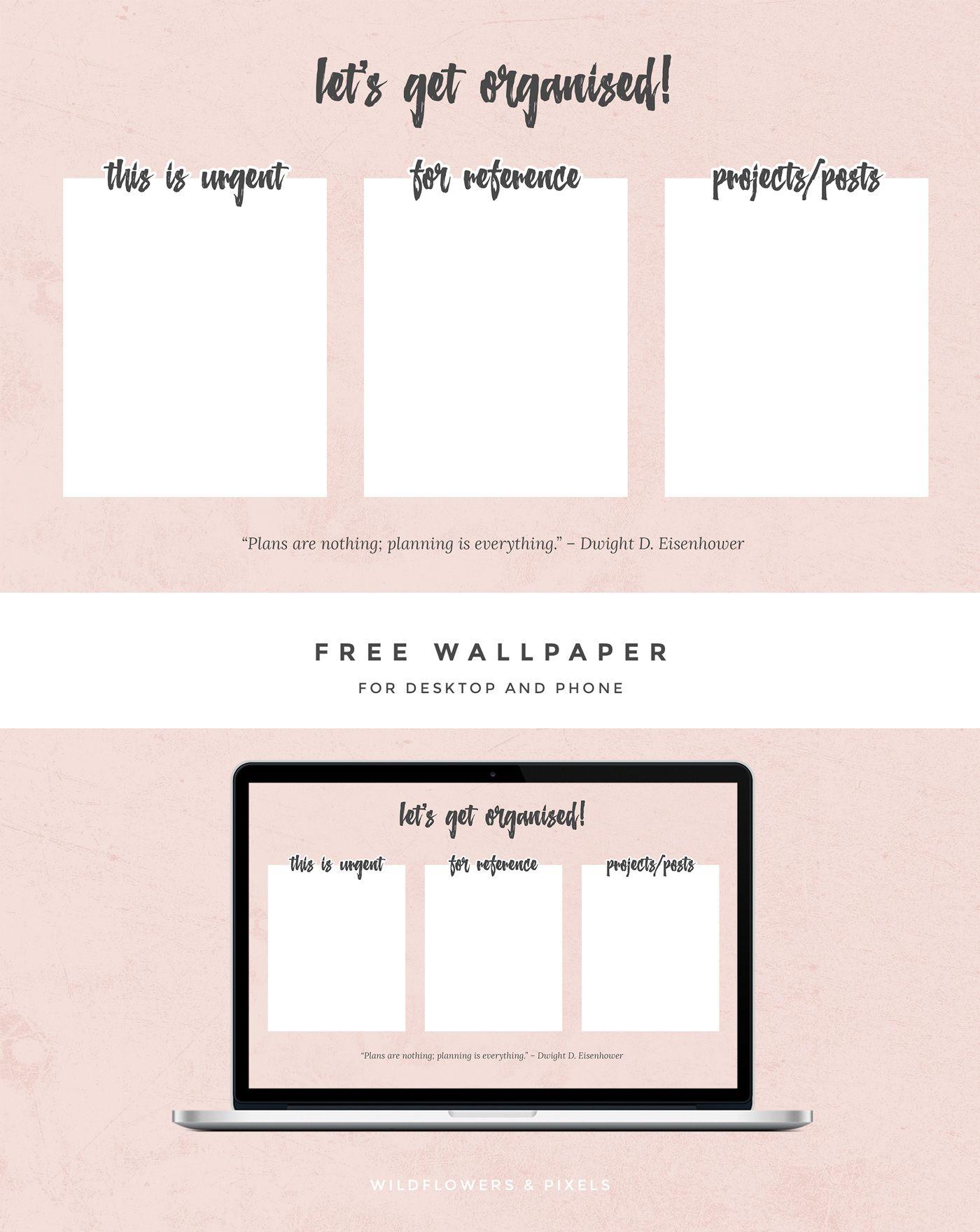 Let S Get Organised Free Wallpaper Desktop Wallpaper Organizer Free Desktop Wallpaper Wallpaper