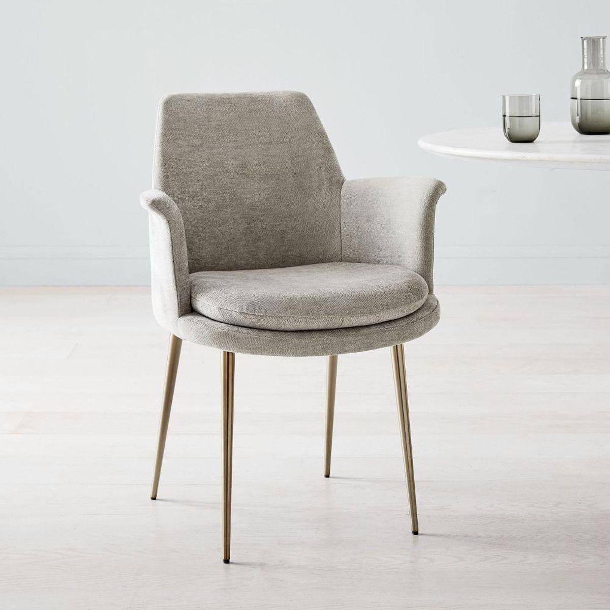 Finley wing velvet dining chair west elm canada