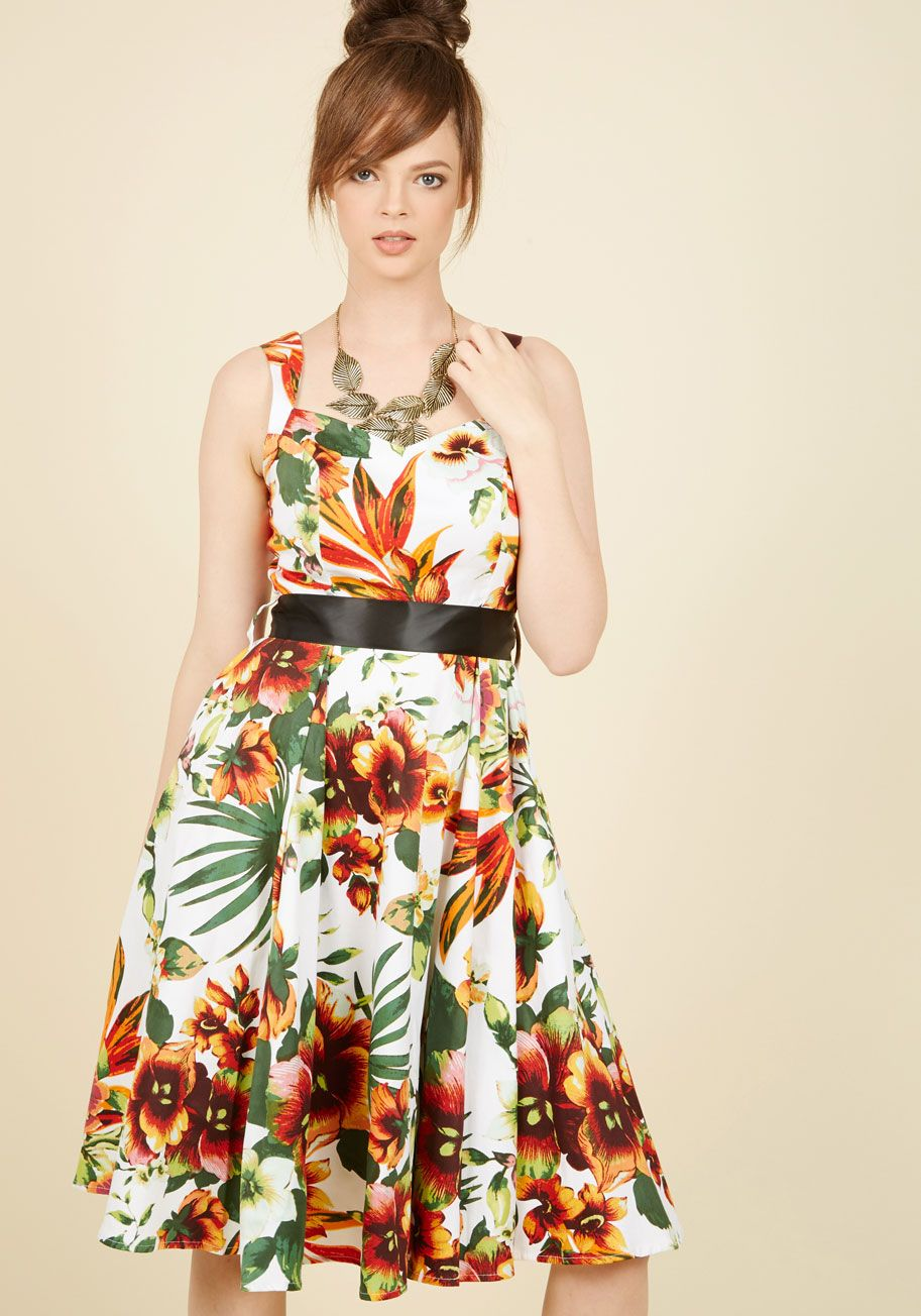 Luau or never floral dress modcloth vintage dresses and retro vintage