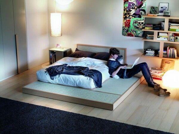 Floor bed - using a Japanese tatami mat base.   decorating ...
