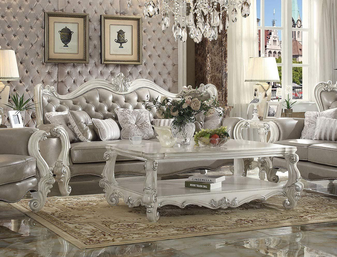 Traditional Living Room Furniture Amazon Esofastore Luxurious Living Room Furniture 2pc White Living Room Set Cheap Living Room Sets Living Room Sets