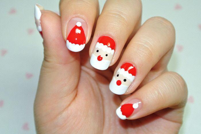 Santa Christmas Nail Nails Nailart 네일아트 매니큐어 크리스마스 네일