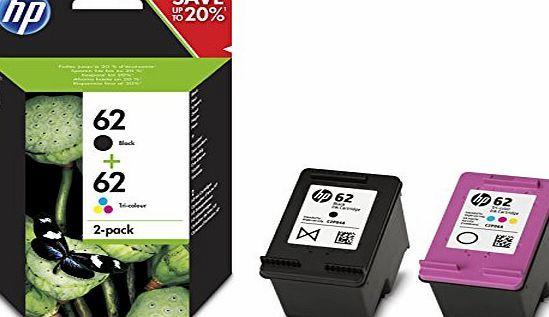Hp 62 2 Pack Black Tri Color Original Ink Cartridges N9j71ae Hp 62 Twin Pack 2 Pack Black Tricolour Original In Ink Cartridge Original Ink Tri Color