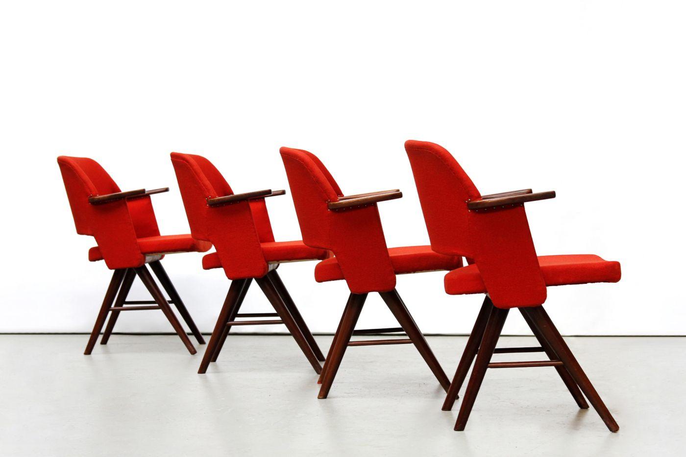 Design Pastoe Stoelen : Set van vier pastoe ft30 stoelen cees braakman van ons amsterdam www