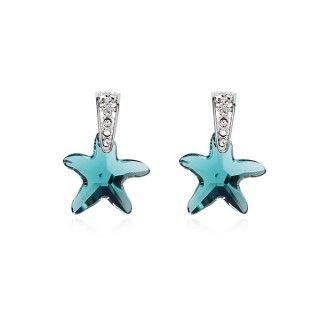 Boucles D Oreilles En Cristal Autrichien Bleu Clair Description Boucles D Oreilles D Swarovski Crystal Earrings Austrian Crystal Earrings Swarovski Earrings