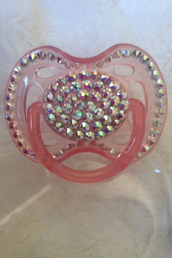 Bedazzled Baby Pacifier For Baby Girls Or Baby Boys