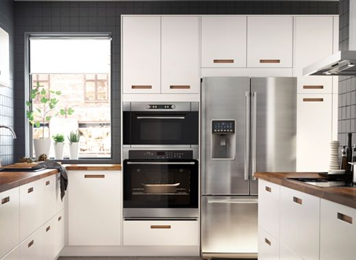 Sektion Cabinets For Built In Appliances Apartment