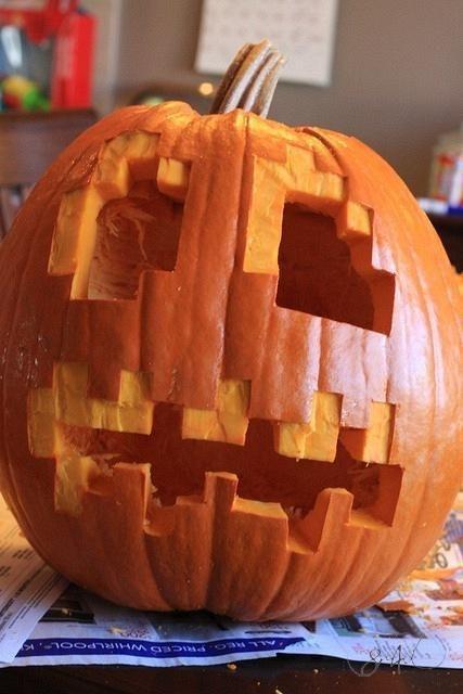 Minecraft Pumpkin I Love This Halloweenween Pinterest