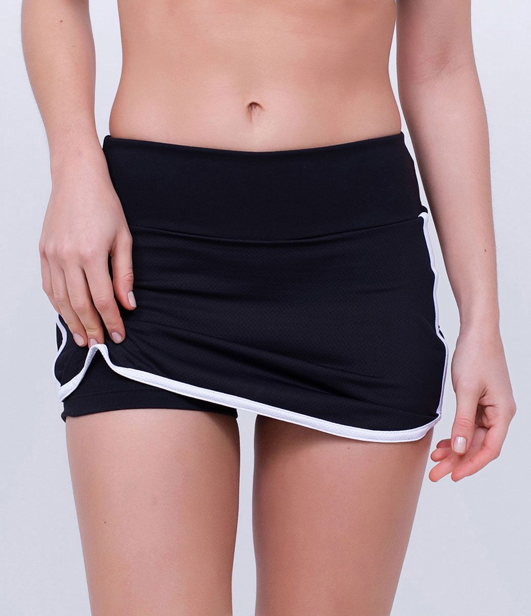 Short saia Feminino Esportivo Com estampa lateral Marca  Get Over Tecido   poliamida Composição  38bd210cefa2f