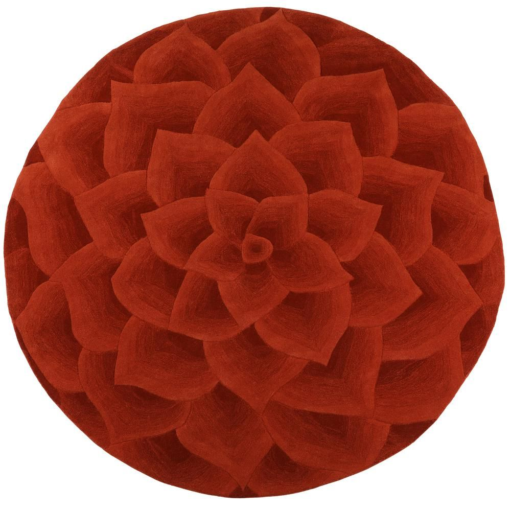 Home Decorators Collection Corolla Terra 7 ft. 9 in. x 7 ft. 9 in. Round Area Rug