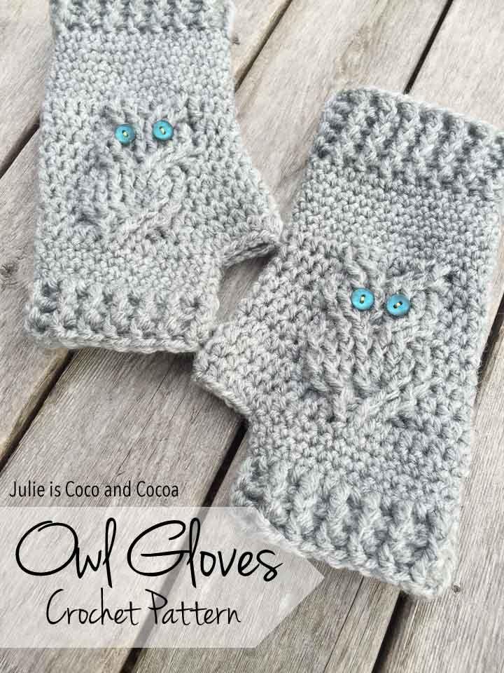 Owl Gloves Crochet Pattern | gloves | Pinterest | Gorros niños ...
