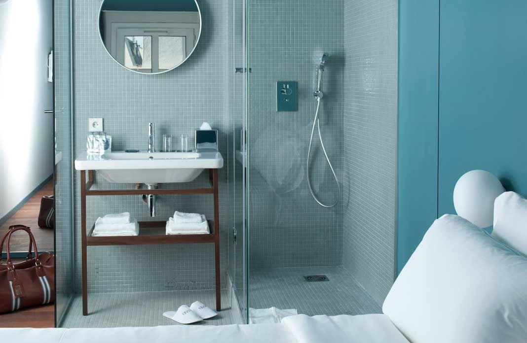 un coin de pi ce suffit caser une salle de bains qui. Black Bedroom Furniture Sets. Home Design Ideas
