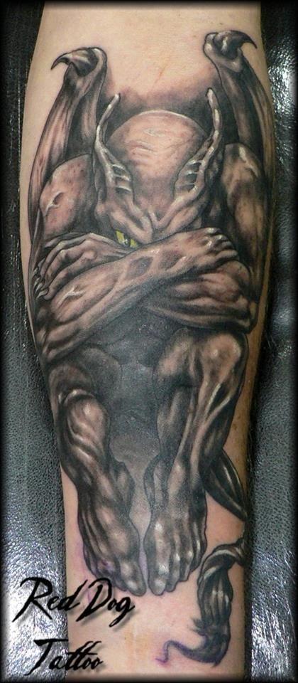 74f3addf7 Black and grey gargoyle tattoo. Wonderfully done. | Tattoos ...