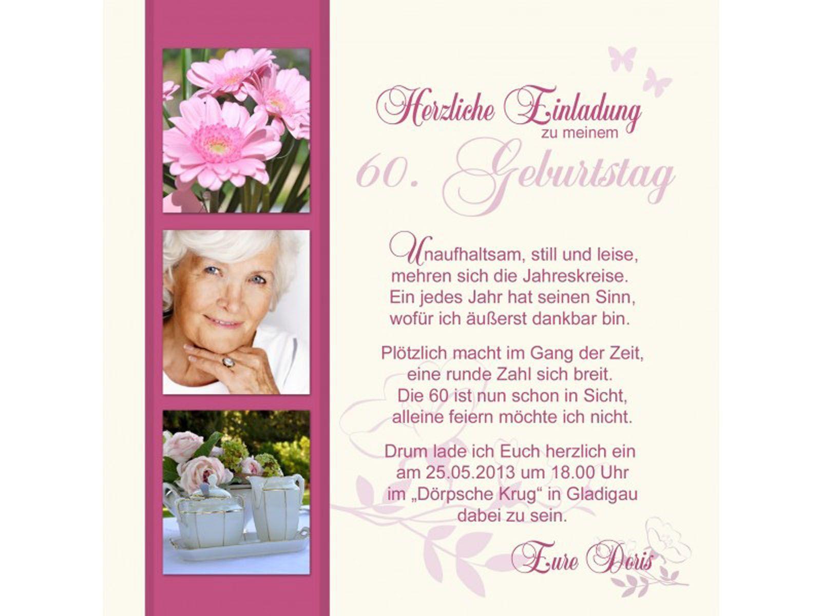 Einladungskarten Geburtstag Einladungskarten Geburtstag 60