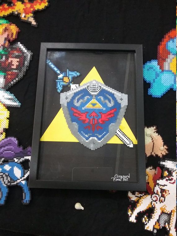 Hyrule y escudo espada marco