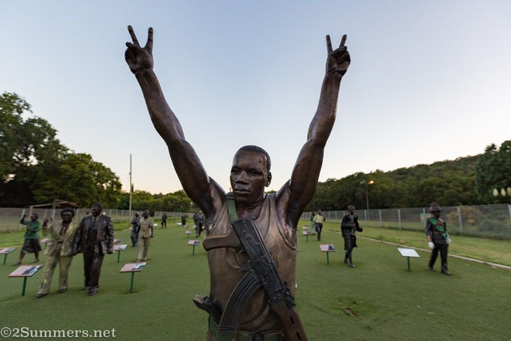Solomon Mahlangu at the Long March to Freedom On 6th April