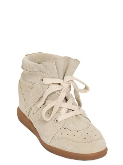 a63ac8e4a3f ETOILE 80MM BOBBY SUEDE WEDGE SNEAKERS