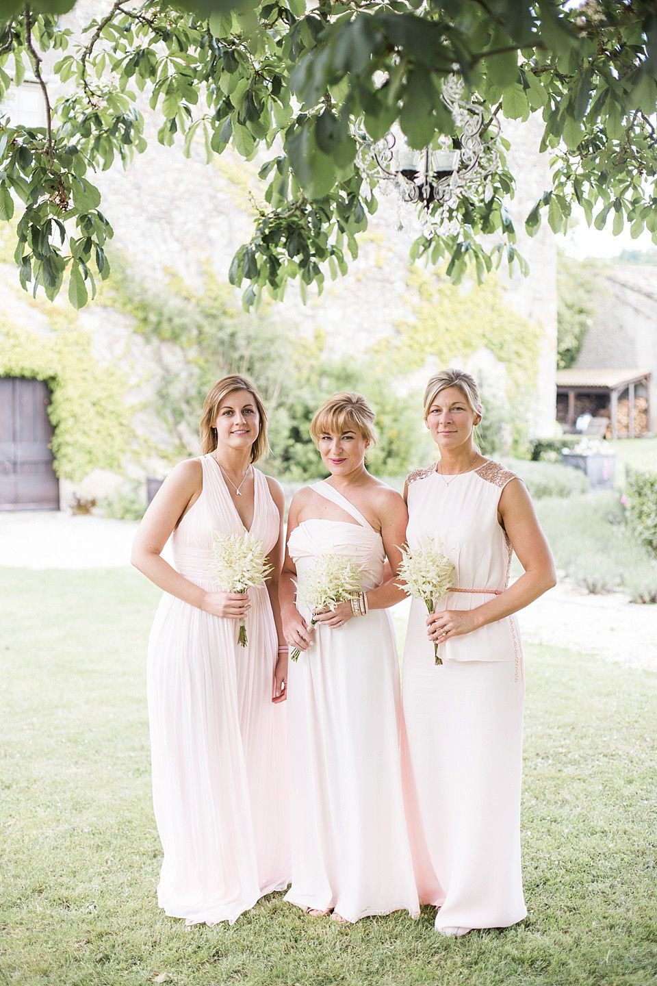 A maria hohan dress and blush pink maids for a relaxed and elegant a maria hohan dress and blush pink maids for a relaxed and elegant outdoor wedding in france ombrellifo Gallery