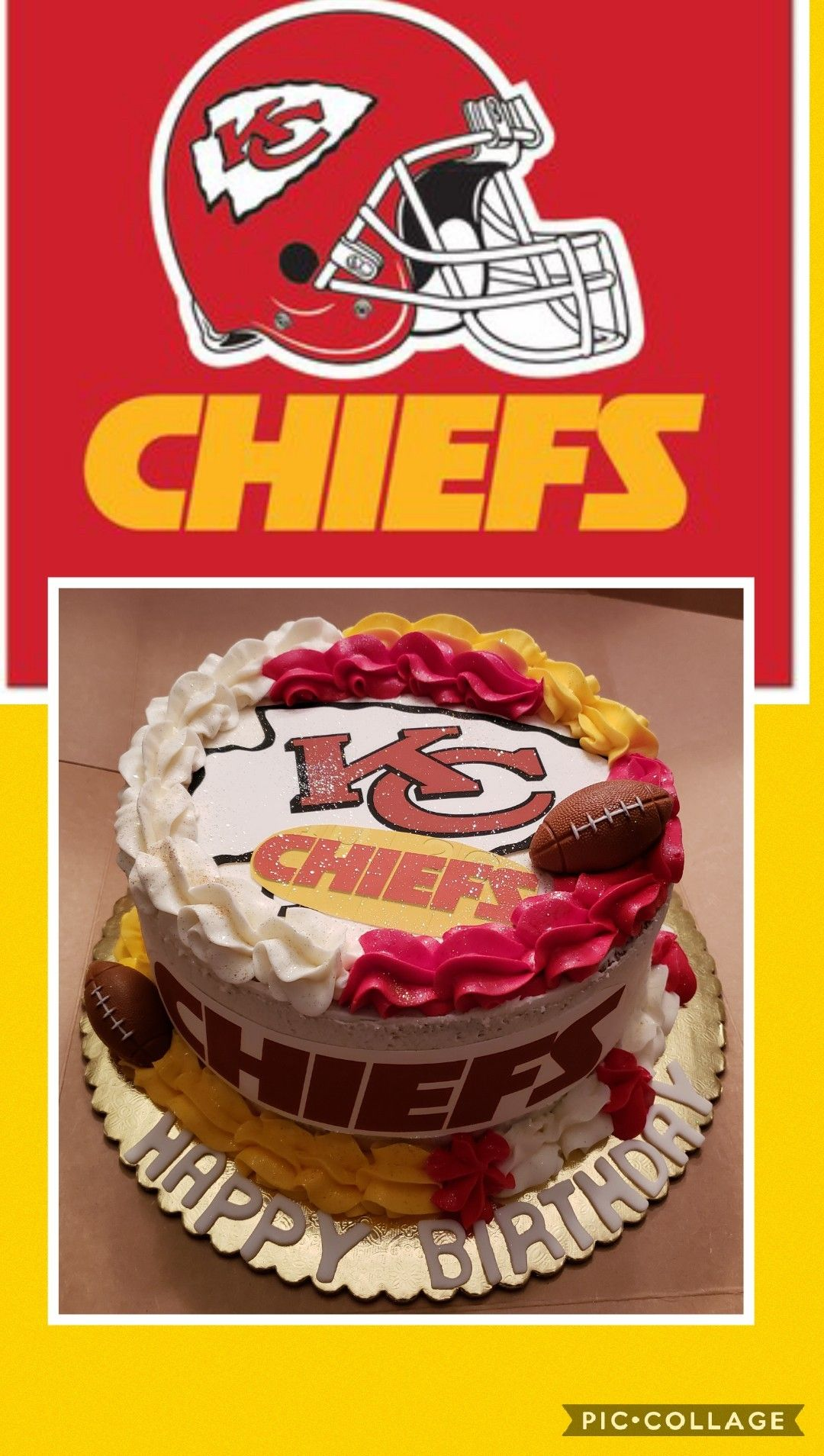 Super Kansas City Chiefs Birthday Cake Red Velvet With Cream Cheese Birthday Cards Printable Opercafe Filternl