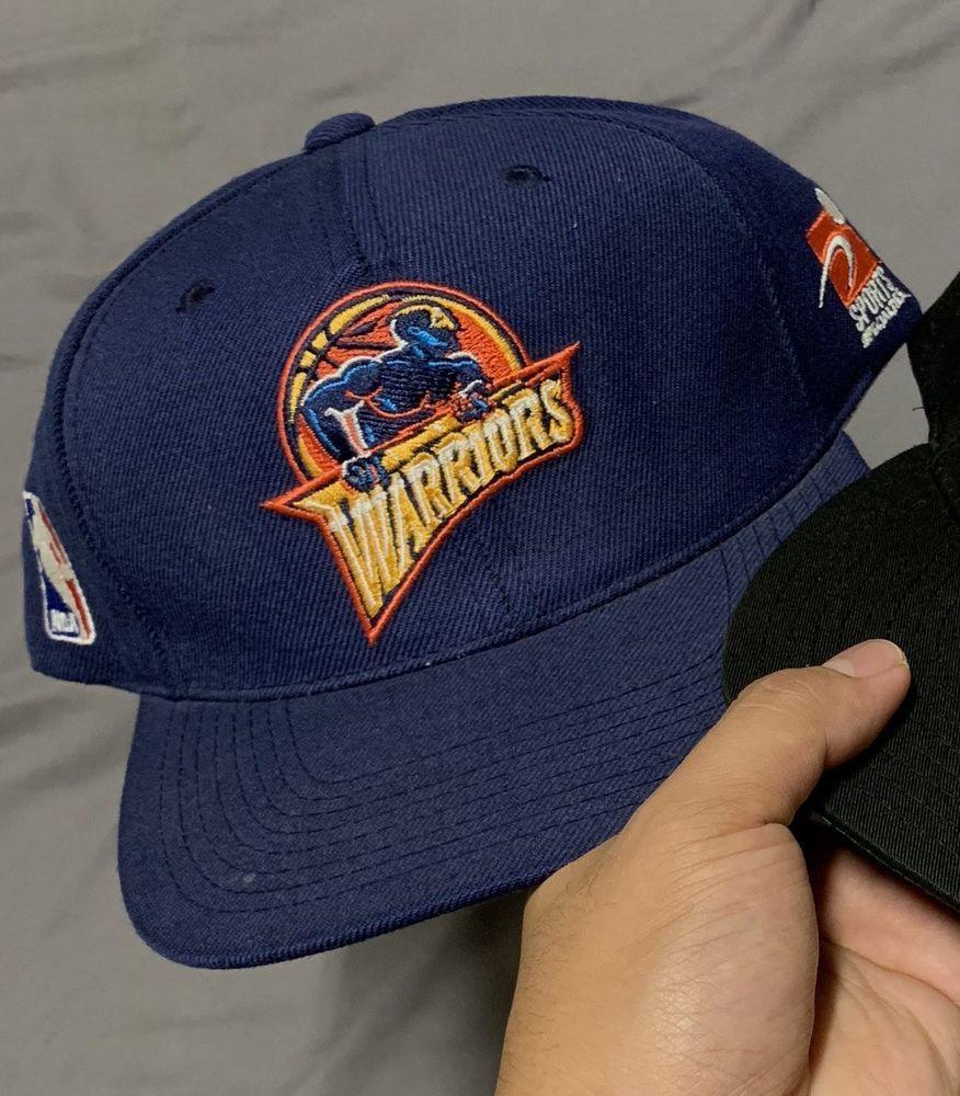 7438e449222 Vintage Rare Sports Specialties Warriors Snapback Hat Cap Golden State 90s  please retweet