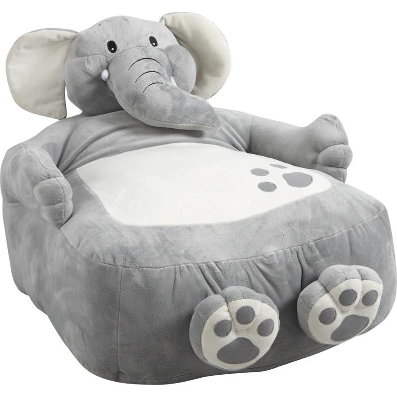 fauteuil pouf l phant en coton et peluche 60x50x50cm sur. Black Bedroom Furniture Sets. Home Design Ideas