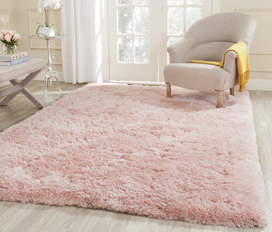 Dax Handmade Tufted Pink Area Rug Home Decor Pink Shag Rug Home