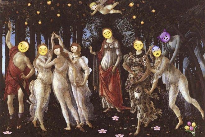 Emojinal Art Gallery, 1 tumblr que mistura obras de arte c/ emojis, veja no que deu http://www.bluebus.com.br/emojinal-art-gallery-1-tumblr-mistura-obras-arte-c-emojis-deu/