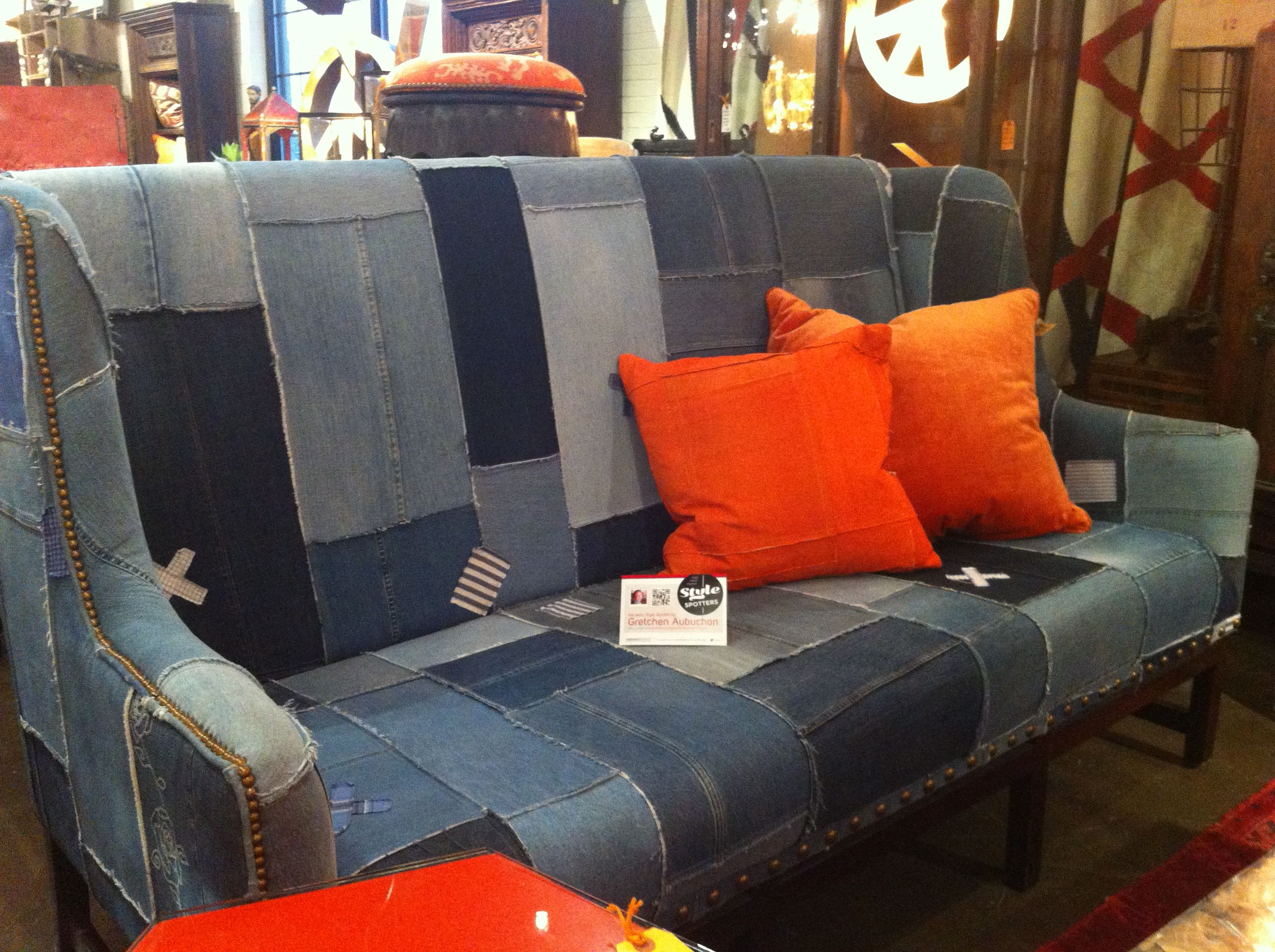 Design Legacy The Paul Sofa This Couch Is Not Only On Trend With Spring 13 Fashions In Denim It Also Made Out Of Collected From Goodwill