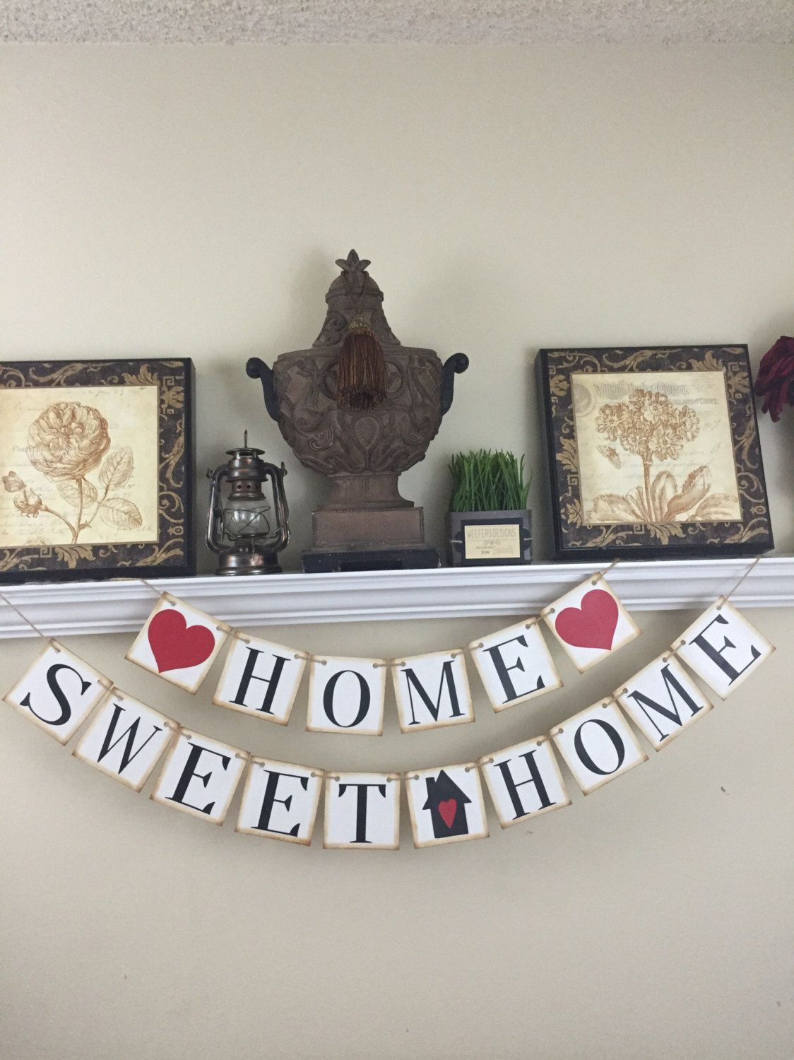 Home Sweet Home Banner, Welcome home, New Home Gift by ...