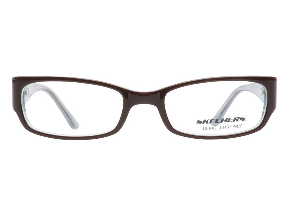 Skechers SK2046 Brown Teal eyeglasses have a pretty rounded ...