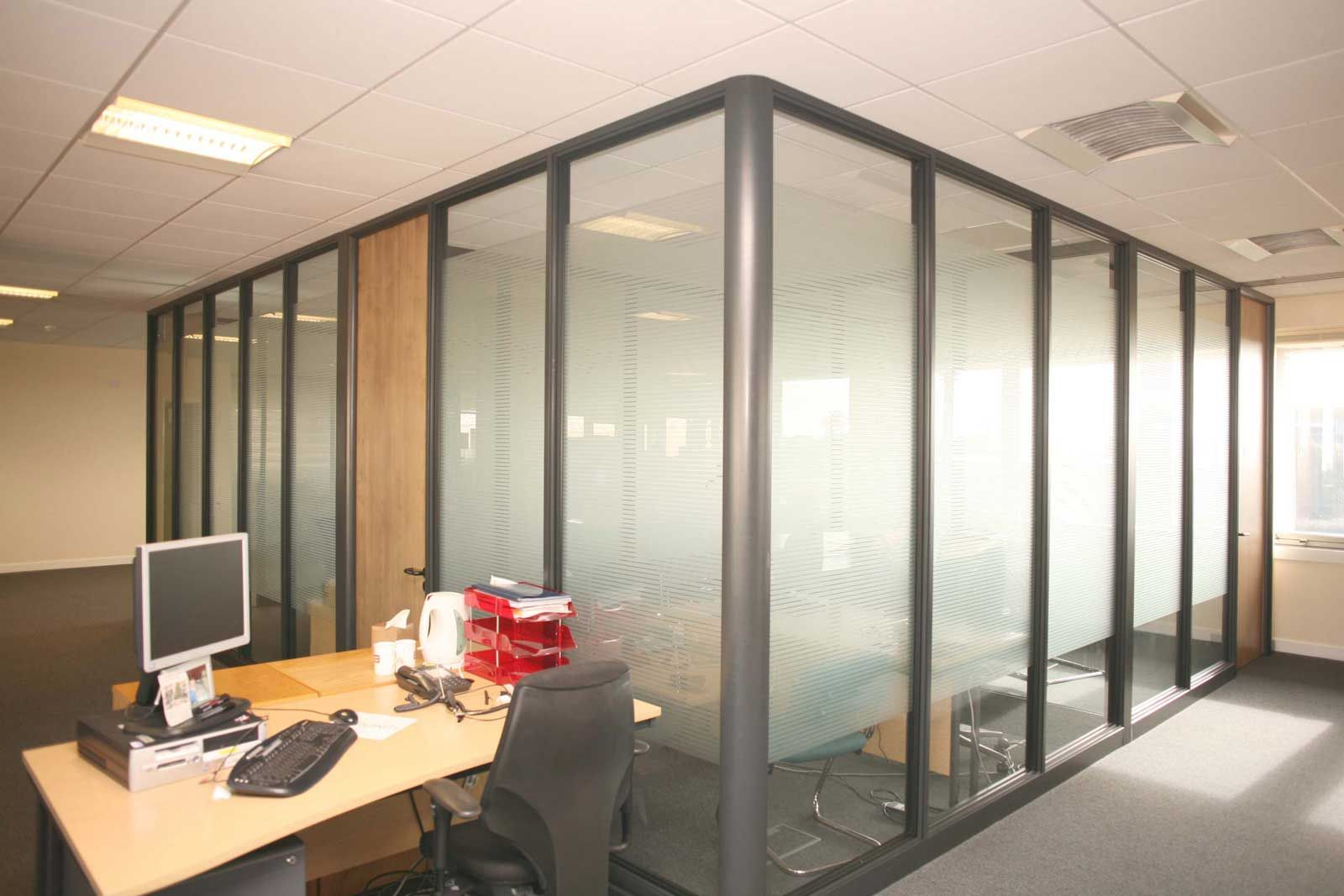 Frosted Glass Top Partitions For Office Glass Partition Wall