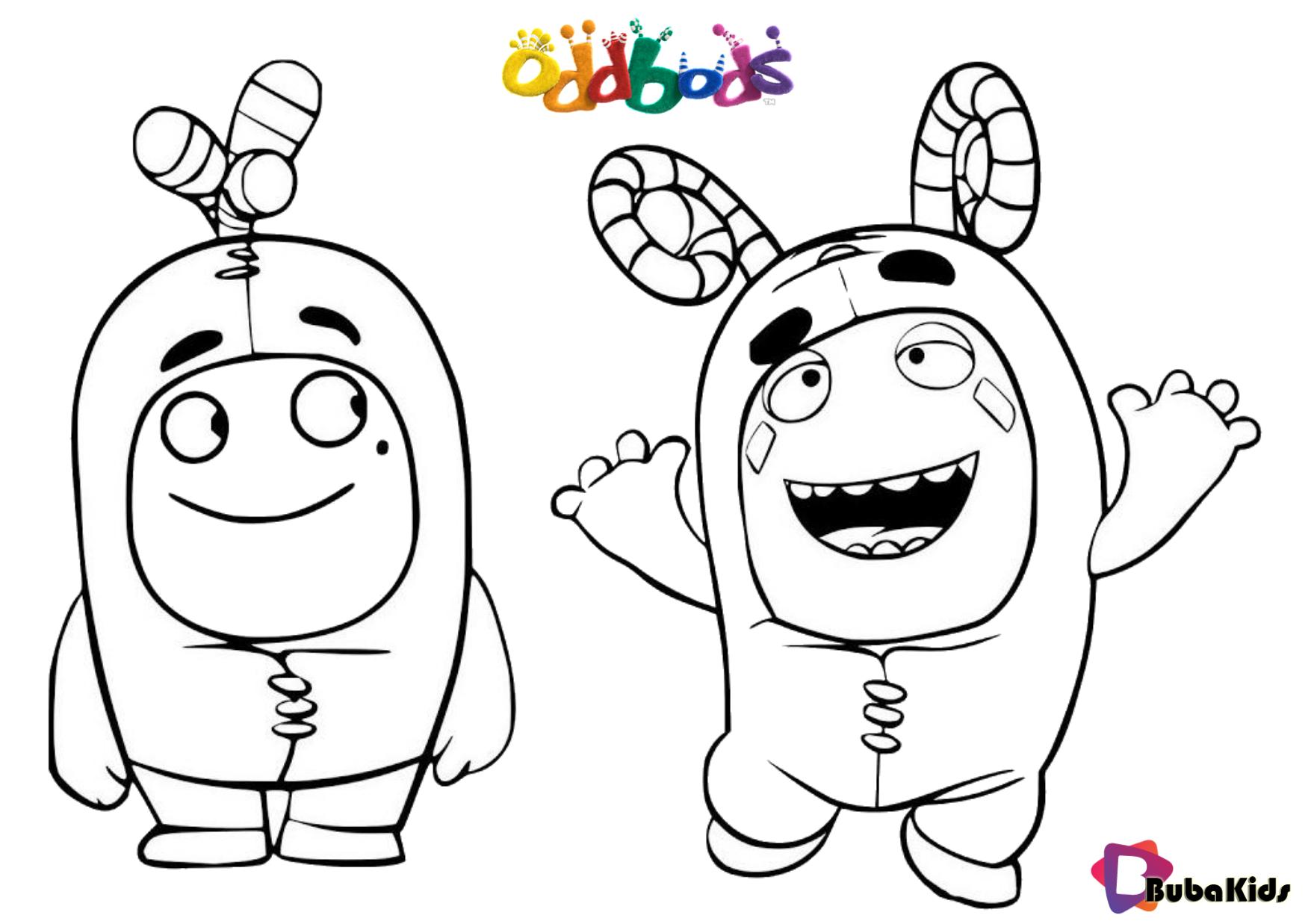 Oddbods tv serials coloring page for kids en 2020