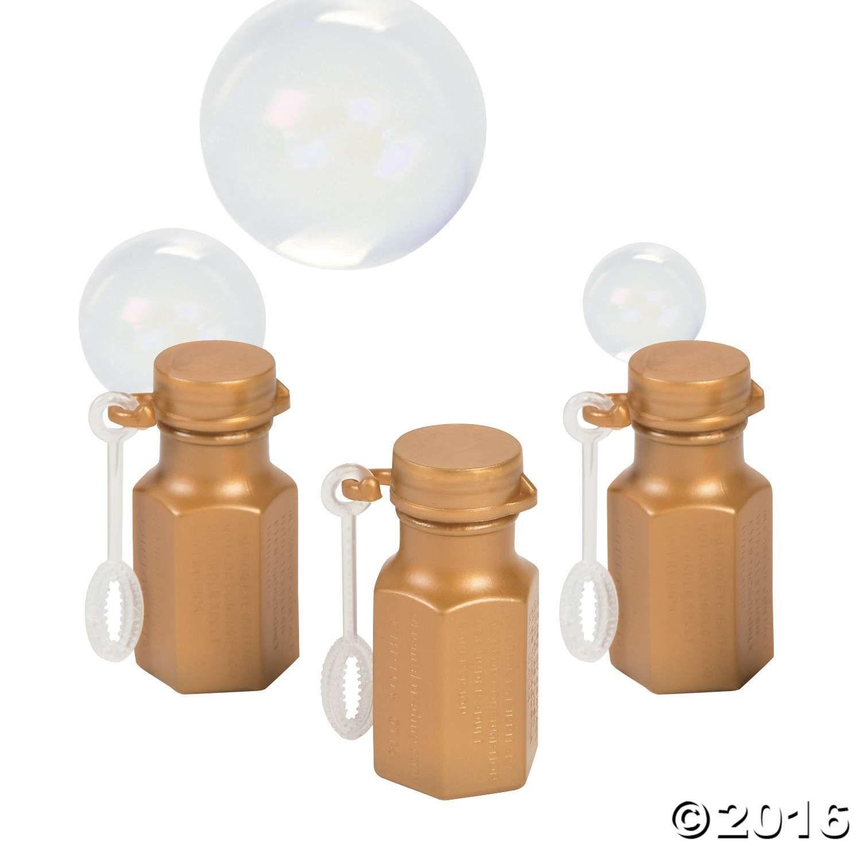 Celebrate with beautiful bubbles! Mini Metallic Gold Hexagon Bubble ...