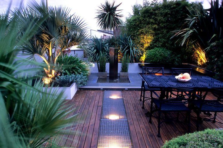 See Your Garden In A New Light Tropical Garden Decking