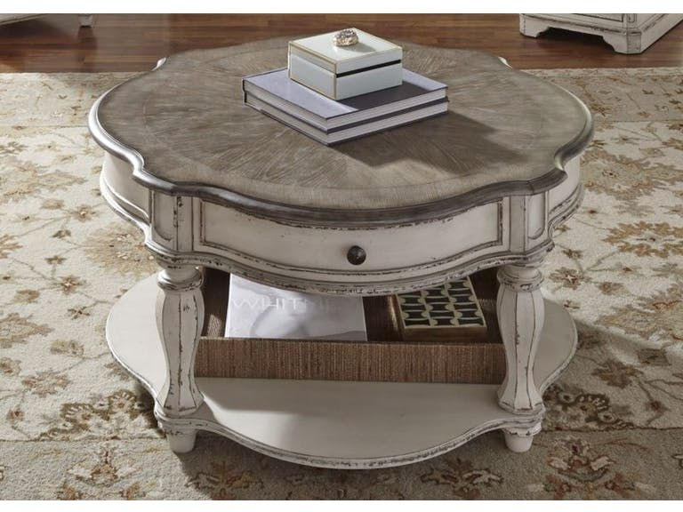 Marlow Round Cocktail Table With Images Liberty Furniture Round Cocktail Tables Coffee Table