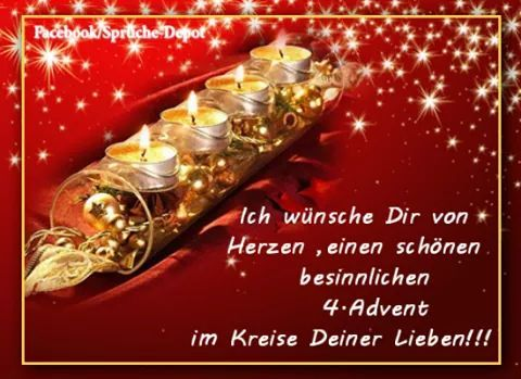 4 Advent Advents Grusse Advent Bilder Advent