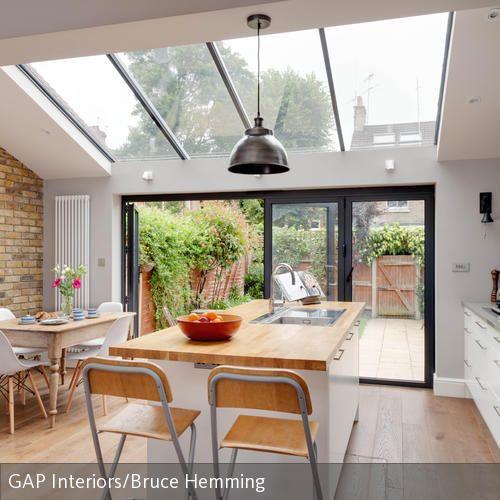küchentresen mit barhocker kombinieren | glass extension and house - Küchentisch Mit Barhockern