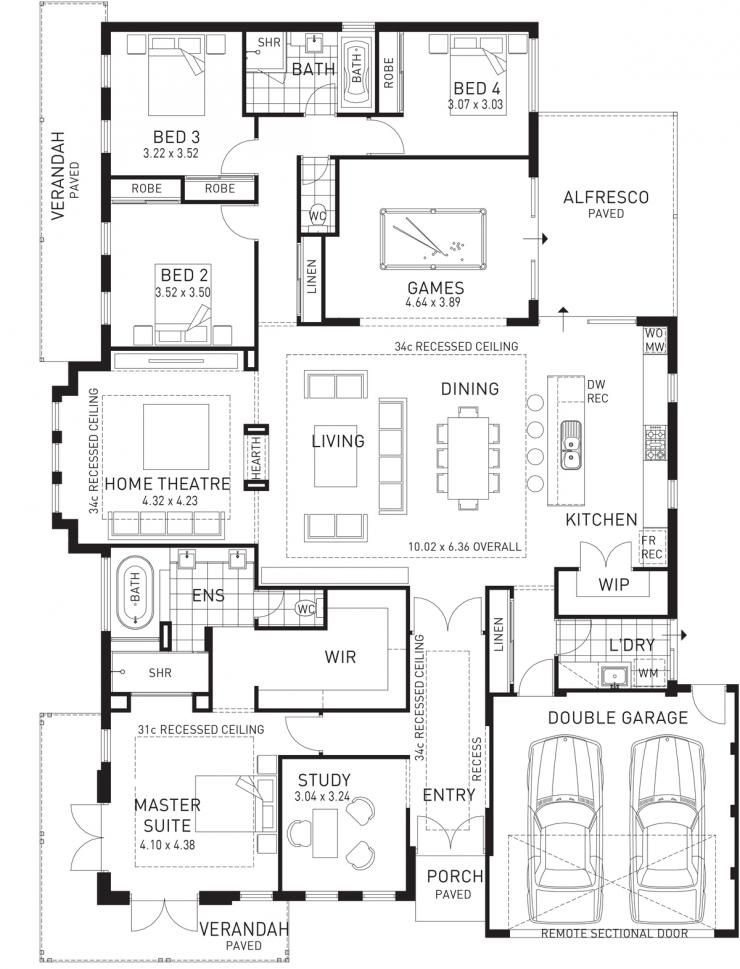 Chittering Lodge, Single Storey Display Floorplan, WA   House ...