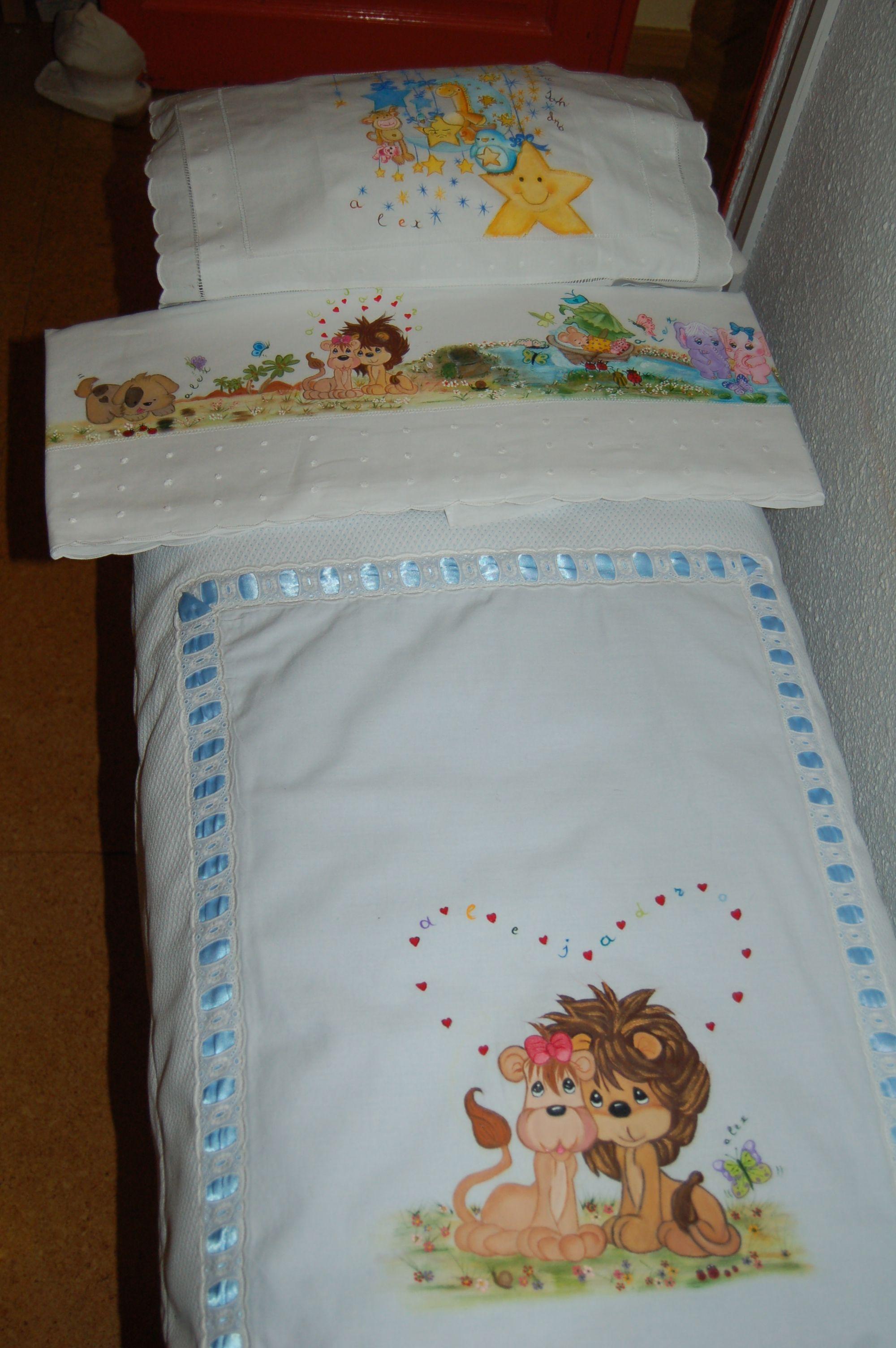 Edred n y sabanitas para cuna pintadas a mano cosas para bebes pinterest bebe pa alera - Dibujos para pintar en tela infantiles ...