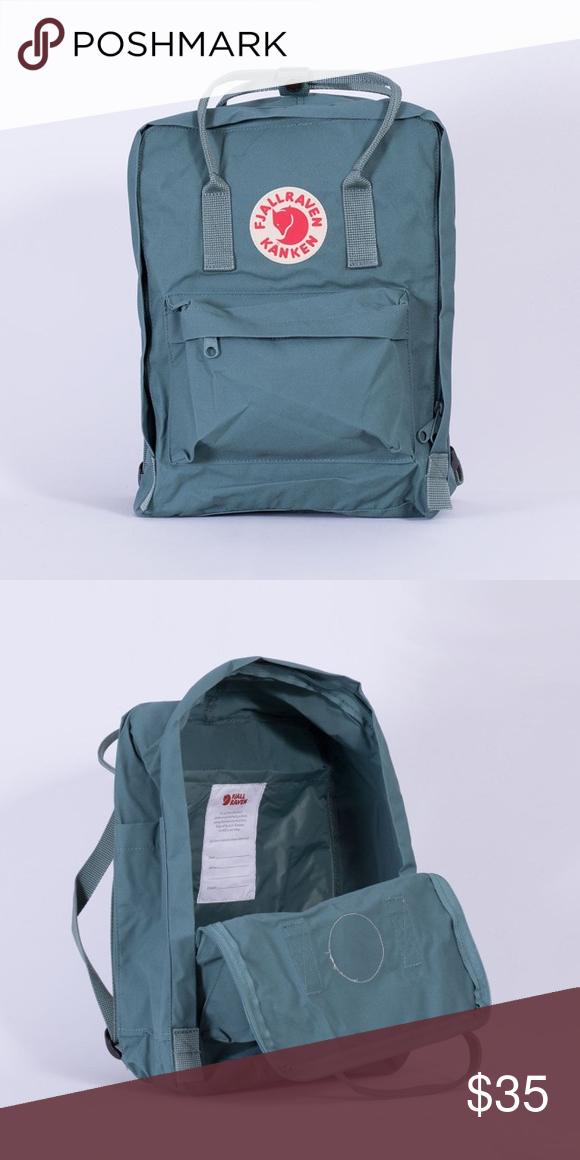 Fjallraven Kanken Frost Green Backpack Green Backpacks Fjallraven Kanken Bags