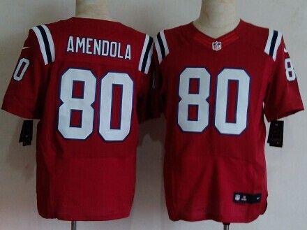 Nike New England Patriots  80 Danny Amendola Red Elite Jersey  a08599f23